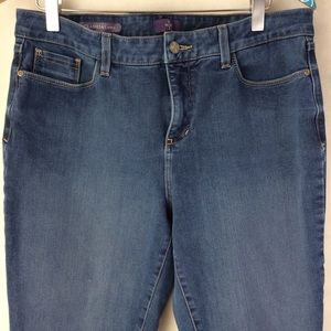 NYDJ Clarissa Ankle Medium Wash Denim Jeans sz 12